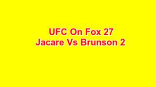 U@C on Fox 27 Jacare Vs Brunson 2