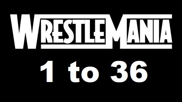 WWE WrestleMania 1 to 36