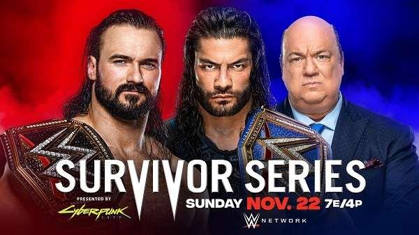 WWE Survivor Series 2020 PPV 11/22/20
