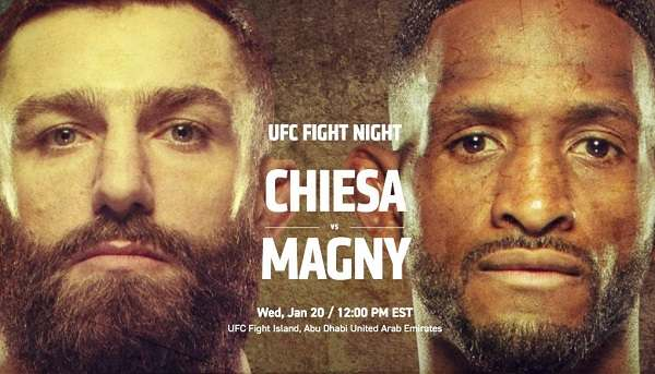 Watch UFC Fight Night : Chiesa vs. Magny 1/20/21 Full Show Online