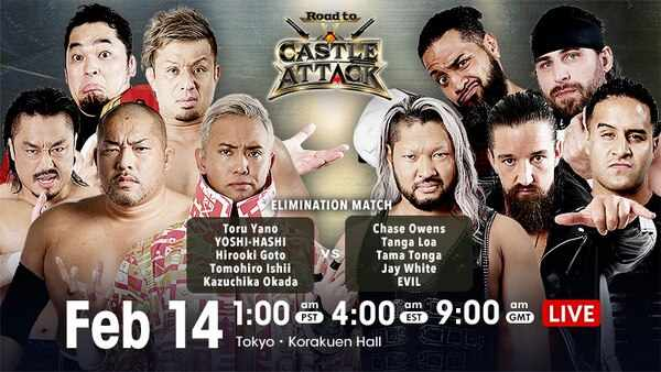 Watch NJPW Road To Castle Attack 2021 2/14/21