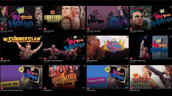 WWE PPVs 1996 Collection