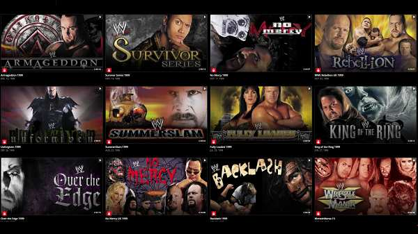 WWE PPVs 1999 Collection