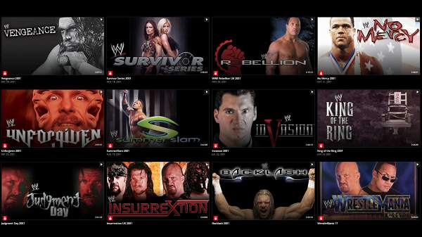WWE PPVs 2001 Collection