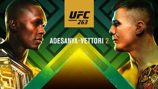 Watch UFC 263: Adesanya vs. Vettori 2 PPV 6/12/21 June 12th 2021 Online Full Show Free