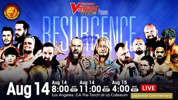Watch NJPW Resurgence 2021 8/14/21