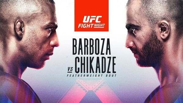 UFCVegas35: Barboza vs. Chikadze Full Fight Replay