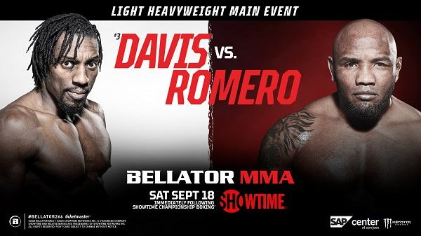 Bellator 266 Davis V Romero 9/18/21