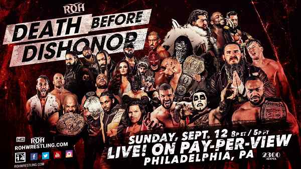 Watch ROH Death Before Dishonor 2021 PPV 12th September 9/12/2021 Online Full Show Free