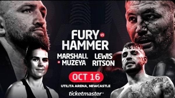 Fury Vs Hammer 10/16/21
